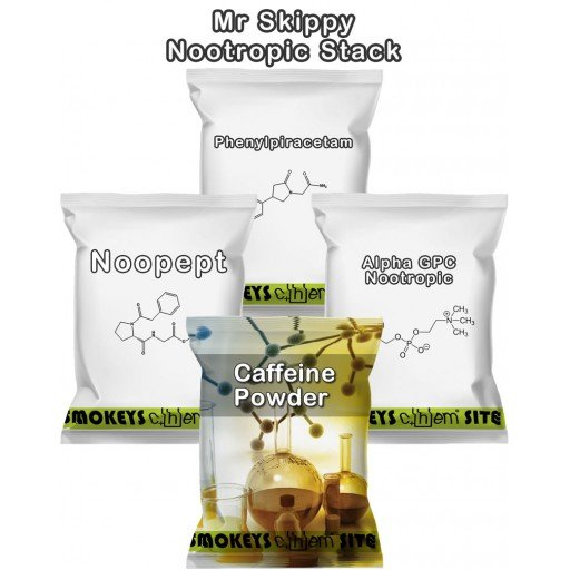 Packs of Mr Skippy Nootropic Stack Research Chemical