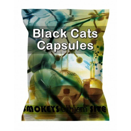 Packs of Black Cats Capsules Research Chemical