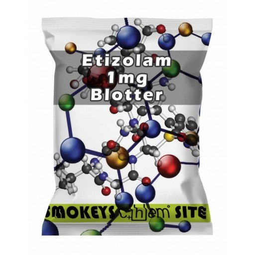 Packs of Etizolam 1mg Blotters Research Chemical