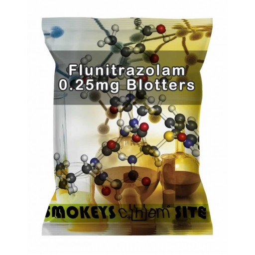 Packs of Flunitrazolam 0.25mg Blotters Research Chemical